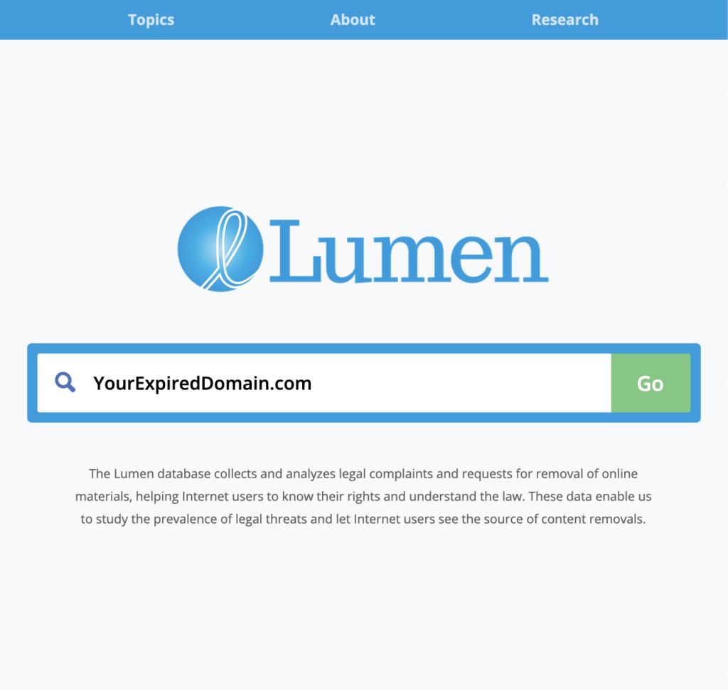 Copyright Strikes Lumen Database