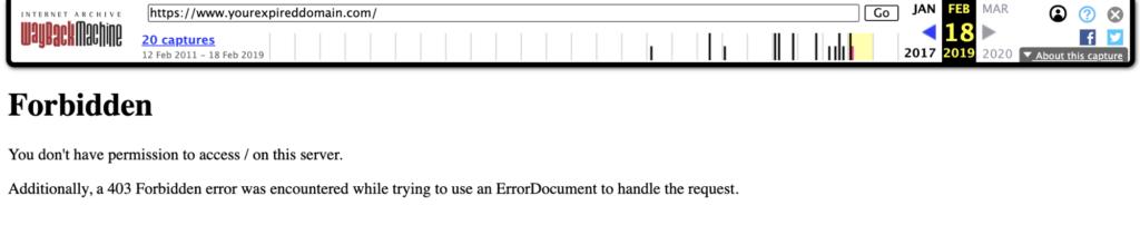 WayBack Crawler Blocked Error 403 Forbidden